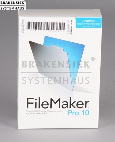 FileMaker Pro v10 dt. Mac/Win Upgrade | for sale, used, on stock ...