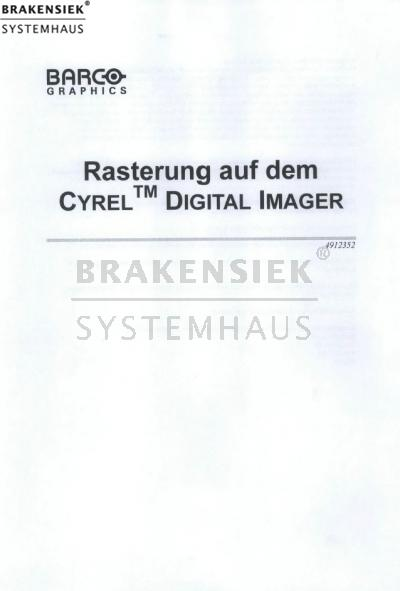 Barco screening on the CYREL DIGITAL IMAGER Manual   for sale, used ...